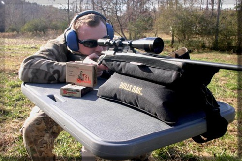 Bench Shooting Rest Portable Rifle Rest Bulls Bag